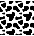 Black and white cow skin animal print seamless vector image vector image