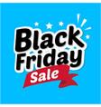 black friday sale banner in blue background vector image