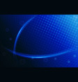 blue background futuristic vector image