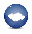 Blue Cloud Icon vector image vector image
