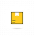 box icon isolated on white background vector image vector image