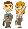 businessman businesswoman frontal vector image vector image
