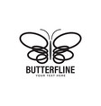 butterfly logo design template isolated vector image