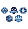 Camping emblems and labels for travel design vector image vector image