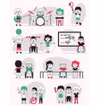 character disabled kids vector image