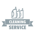 cleaning service logo simple gray style vector image vector image