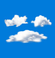 clouds on sky on blue background vector image vector image