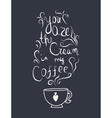 Coffe cream romantic lettering for print vector image