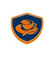 Coffee Cup Teaspoon Crest Retro vector image vector image