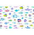 colored seamless pattern fishes vector image