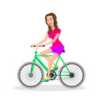 cool character design on adult young woman riding vector image