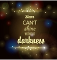 dark background with shining stars and inscription vector image