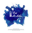 eid al adha mubarak islamic greeting card design vector image