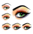 eye shadow make up step step vector image vector image