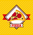 fast food pizza restaurant pepperoni cheese tasty vector image