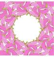 Frame made of pink magnolia soulangeana flowers vector image vector image