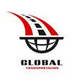 global transportation logo vector image