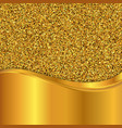 gold glitter texture golden background vector image