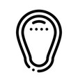 groin protection icon outline vector image vector image