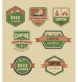 hiking camp badges - set icons and elements vector image