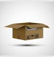 icon open cardboard box cargo delivery vector image vector image