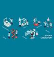 isometric science laboratory infographic vector image