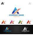letter a for digital logo marketing financial vector image vector image