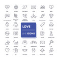 line icons set love vector image vector image