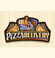 logo for pizza delivery vector image