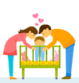 loving parents vector image vector image