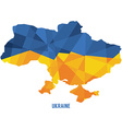 Map of Ukraine vector image vector image