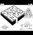 maze activity game with cinderella vector image vector image