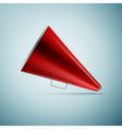 Megaphone icon isolated on blue background vector image vector image