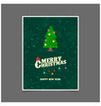 merry christmas and happy new year tree background vector image