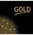 modern gold glitter abstract background vector image vector image