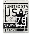 new york typography design vector image
