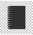 Notebook simple sign Dark gray icon on vector image vector image