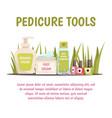pedicure tools concept vector image vector image