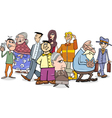 people crowd cartoon vector image vector image