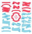 ribbons banners set blue and red vector image vector image