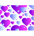 seamless pattern with hearts happy valentines day vector image vector image