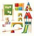 set cartoon kindergarten children vector image vector image