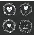 set floral frames vector image vector image