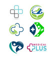 set medical logo vector image vector image