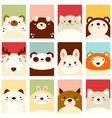 set of banners with cute animals vector image vector image