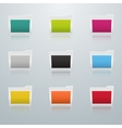 Set of Colored Folders in Perspective vector image vector image
