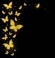 shiny decorative golden butterflies vector image vector image