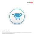 shopping cart and delete sign - white circle vector image vector image