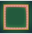 Square frame with glowing light bulb vector image