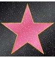 star hollywood walk fame vector image